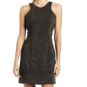 NWT Retail BCBG gold/ black dress.